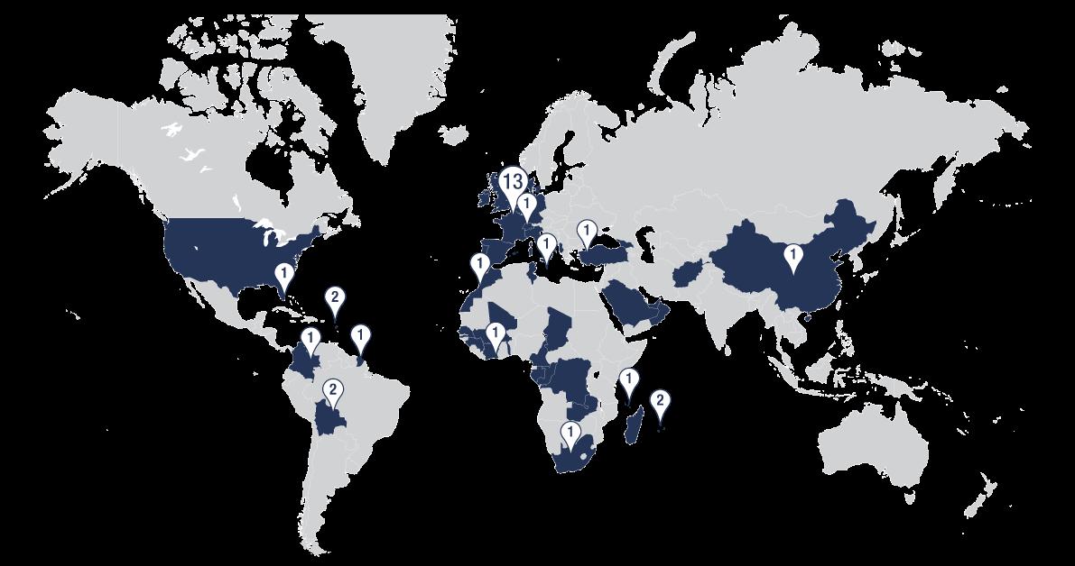 24 écoles Camas dans le monde
